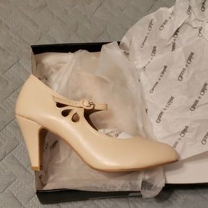 """New in box nude 3"""" pinup heels vintage style"""